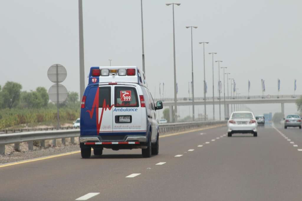 Dubai ambulance team rescues family trapped in fire