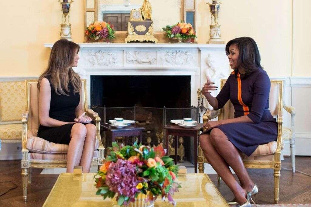 WATCH: Melania likes Michelle Obama, tweets Trump