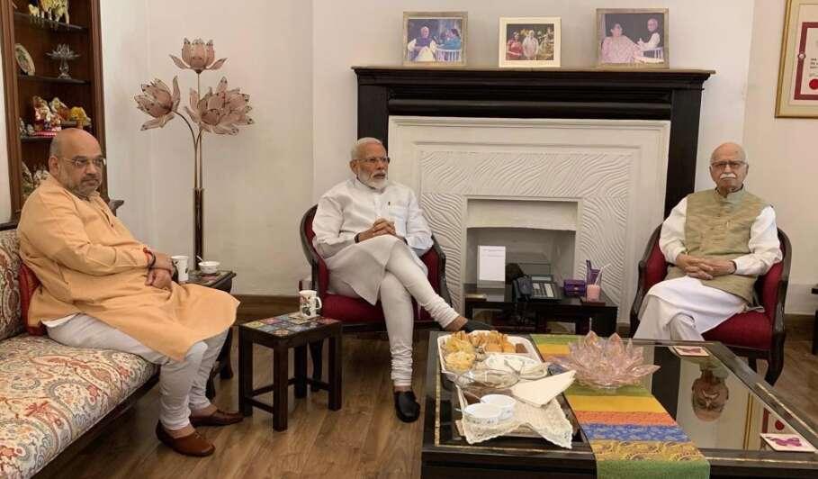 PM Modi, Amit Shah visit LK Advani after massive victory