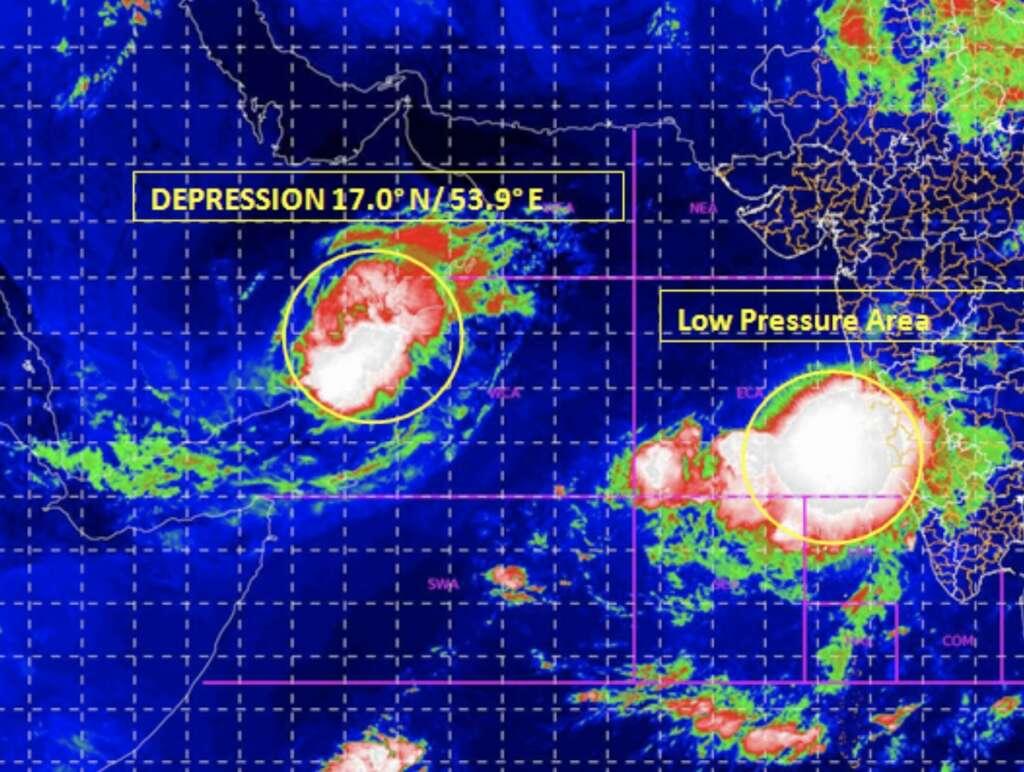 weather, Arabian sea, IMD, pressure, UAE, India