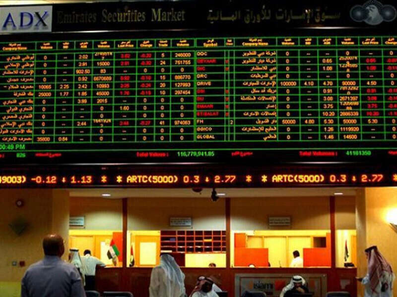 UAE, stock markets, high, upbeat sentiments, trades, focused, on, property and banking blue chips, dubai, abu dhabi