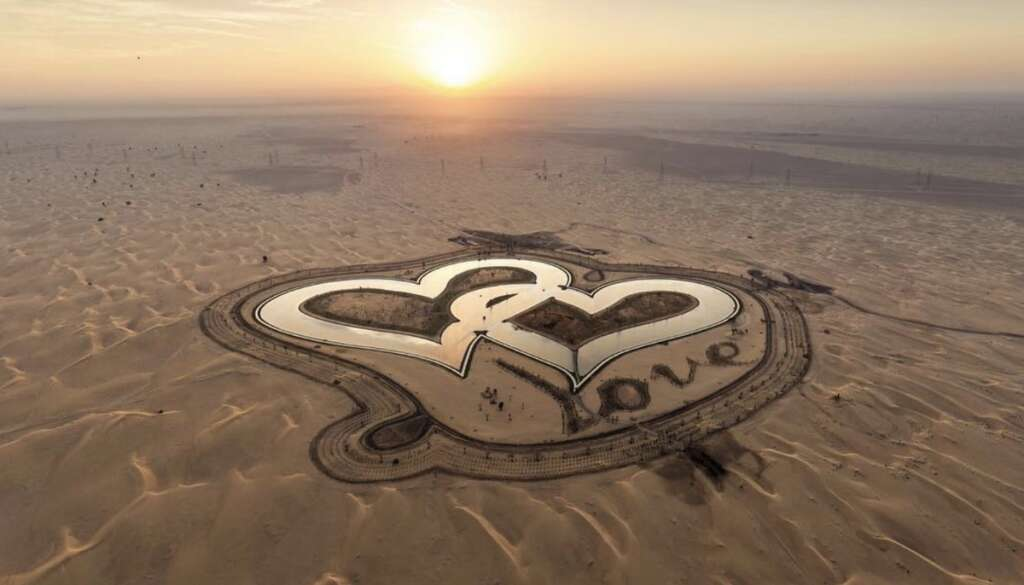 Photos Have You Visited Dubai S Heart Shaped Lake Yet
