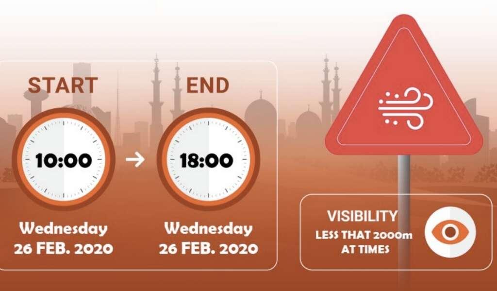 Alert: Weather warning, dust, weather, duststorm