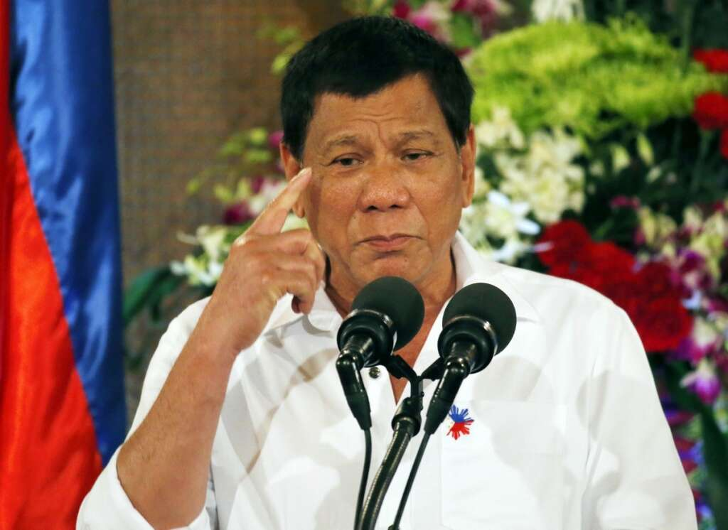 Philippines Duterte says will never visit lousy United States