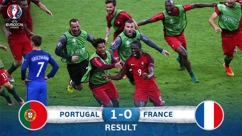 Portugal stuns host France to win cup despite Ronaldo injury