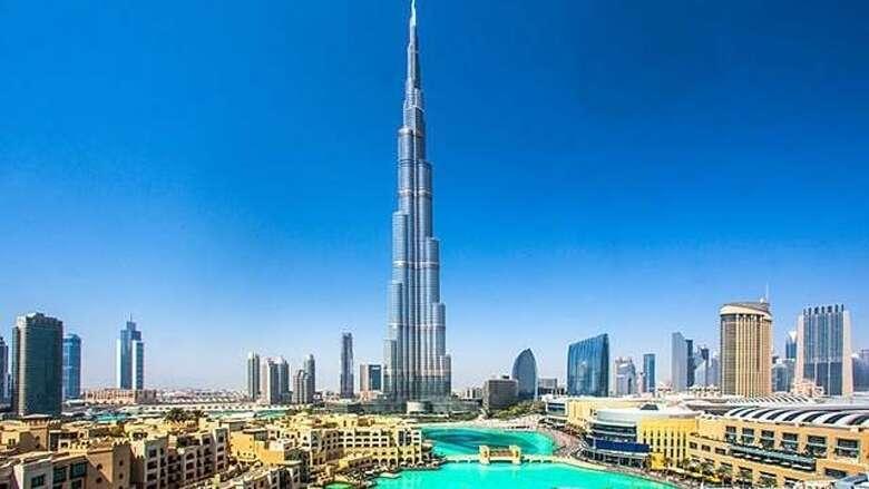 burj khalifa, celebrate, anniversary, dubai, 10 years