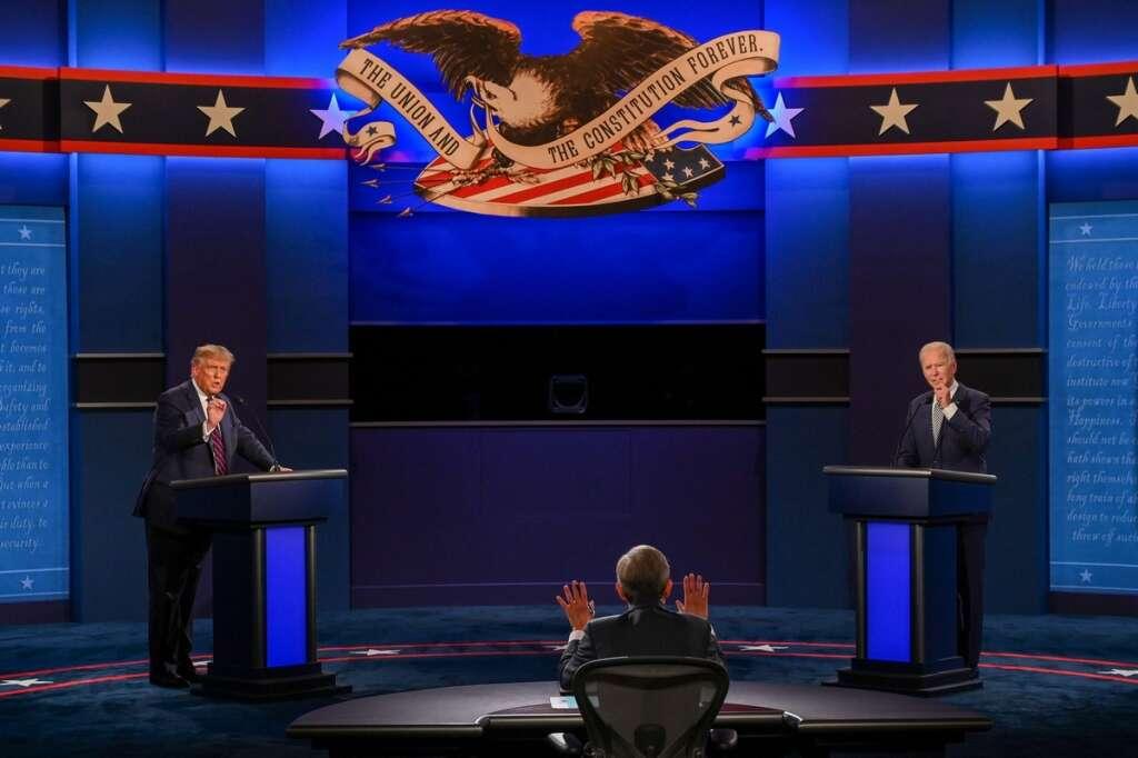 US 2020 presidential debate, Trump, Biden, debate 2020, Supreme Court, US  election 2020