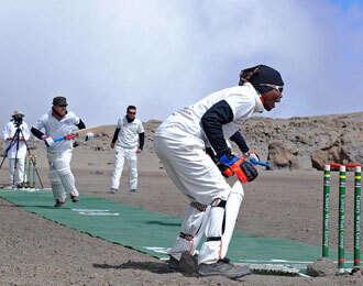 New cricket match altitude record set on Kilimanjaro