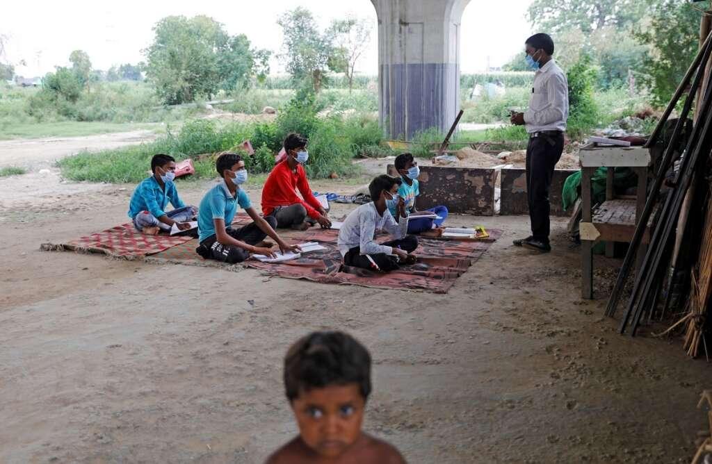 Satyendra Pal, open air classroom