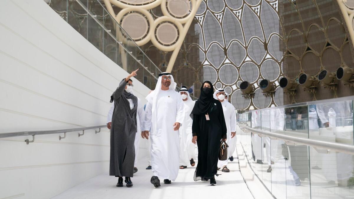 Expo 2020 Dubai: Sheikh Mohamed visits UAE pavilion