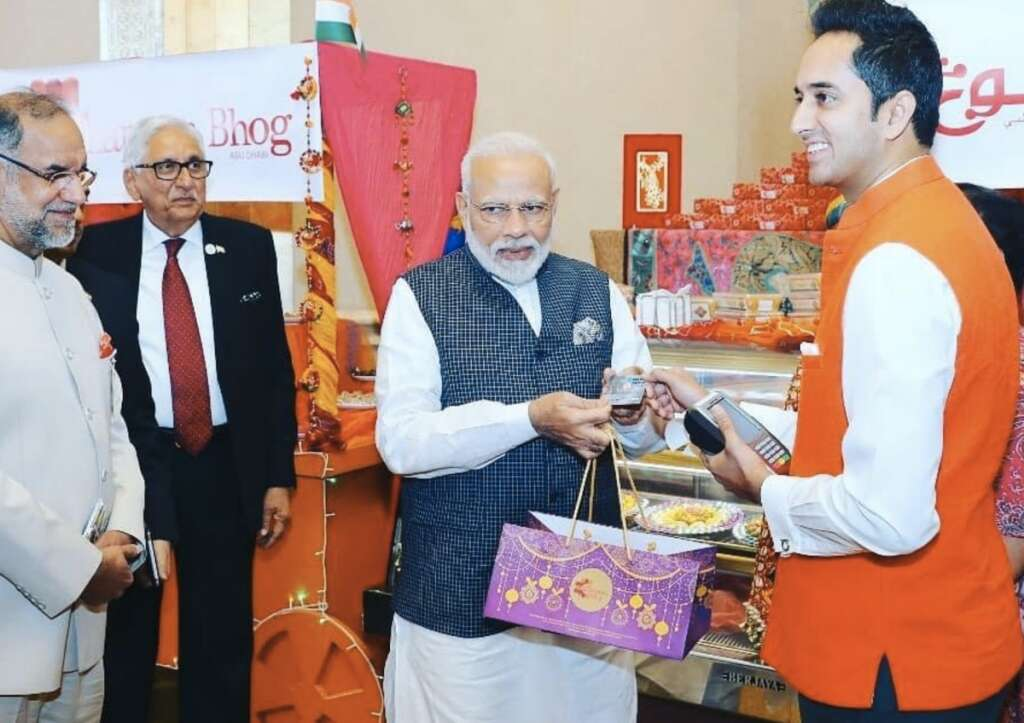 RuPay, UAE, India, Modi, Modi in UAE, Modi buys laddoo