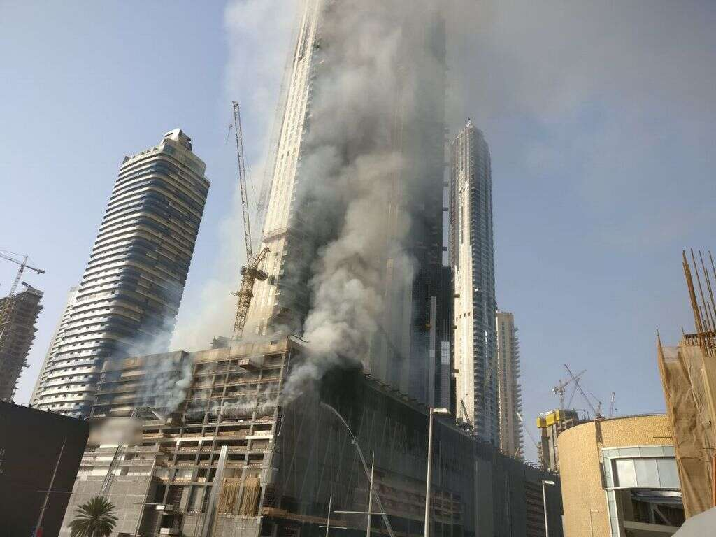 Fountain Views Dubai fire put out, trapped workers rescued