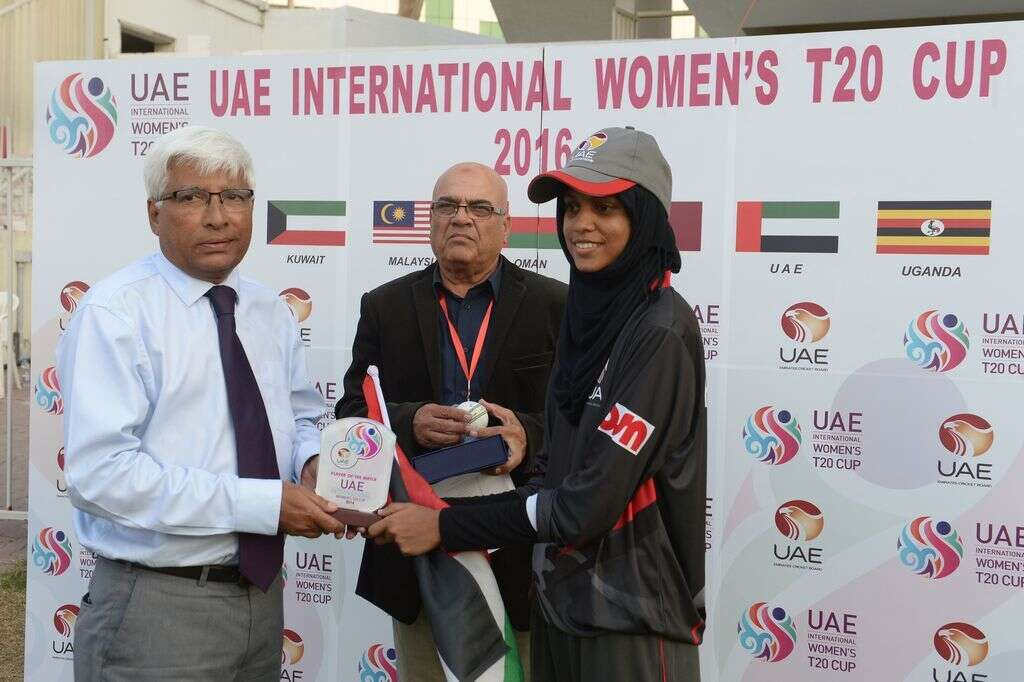 Humaira spins UAE to victory