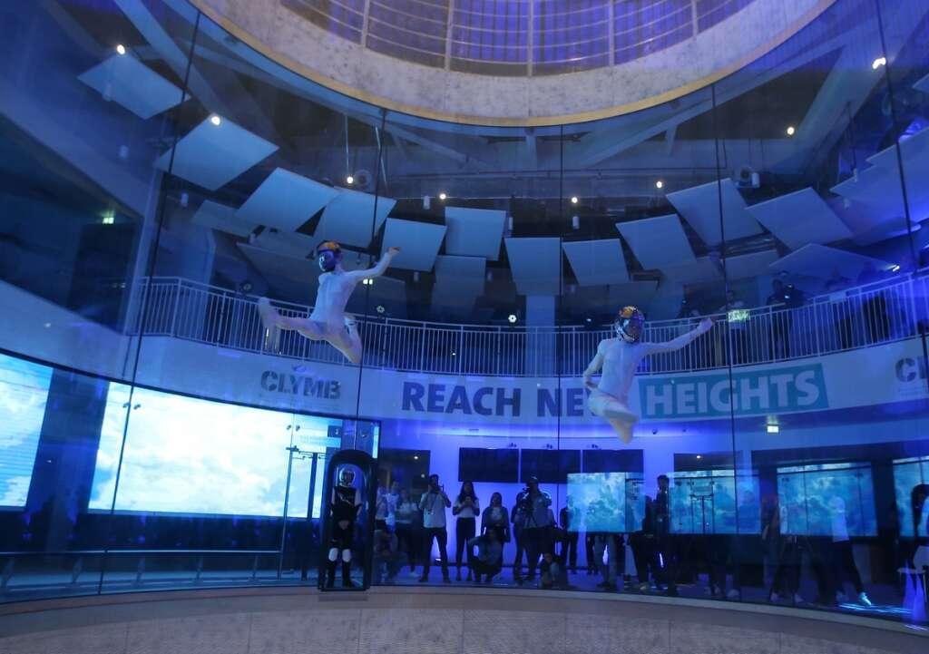 Worlds, tallest, indoor, climbing wall, opens, Abu Dhabi, Yas Island, Yas Mall, Ferrari World