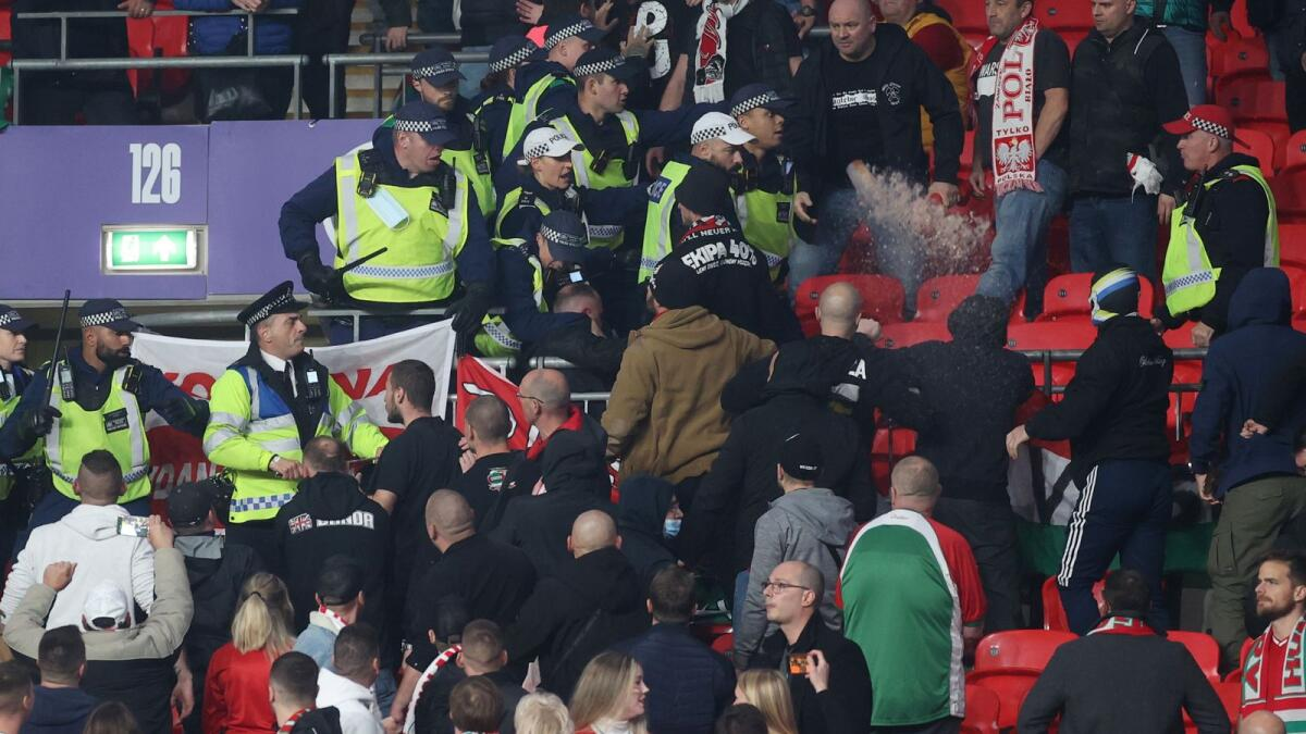World Cup Qualifier: Fifa condemns 'abhorrent' violence at Wembley