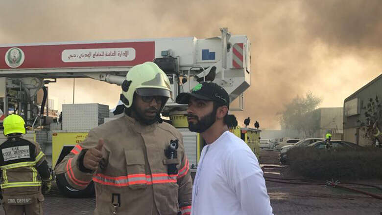 Video: Sheikh Mansoor supervises Dubai fire operation - News