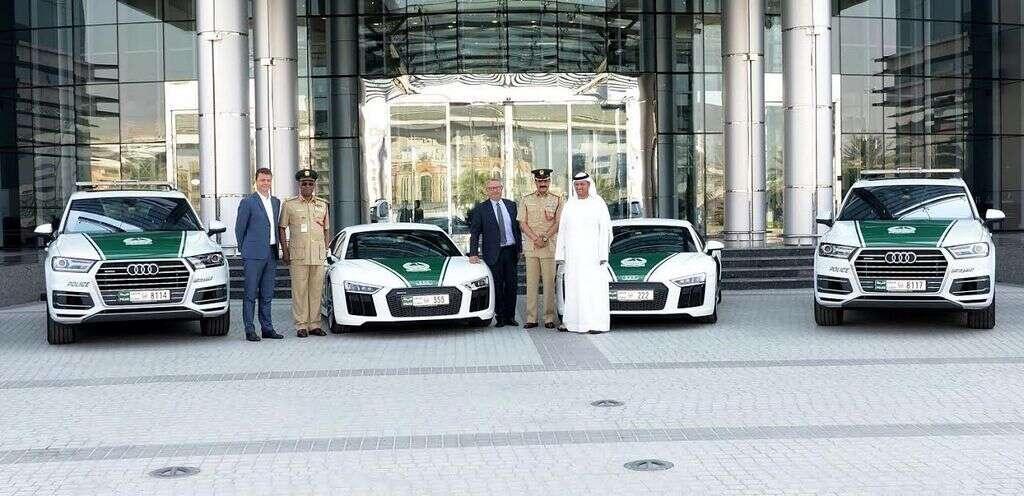 Audi R8 And Q7 Join Dubai Police Fleet Khaleej Times