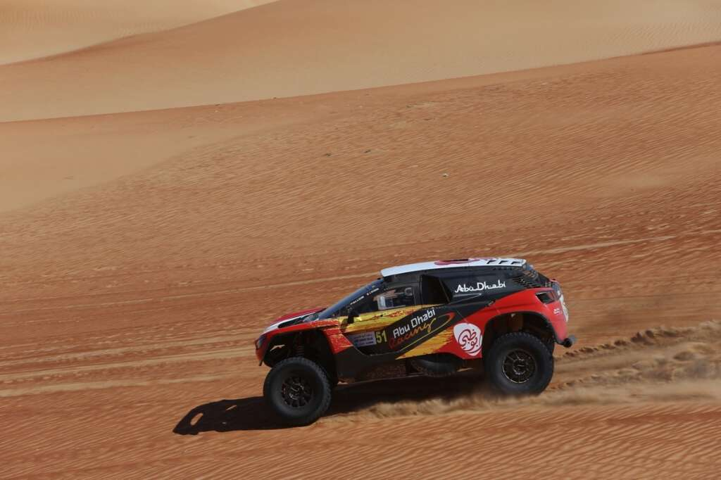 UAEs Al Qassimi sets the pace in first leg at Abu Dhabi Baja