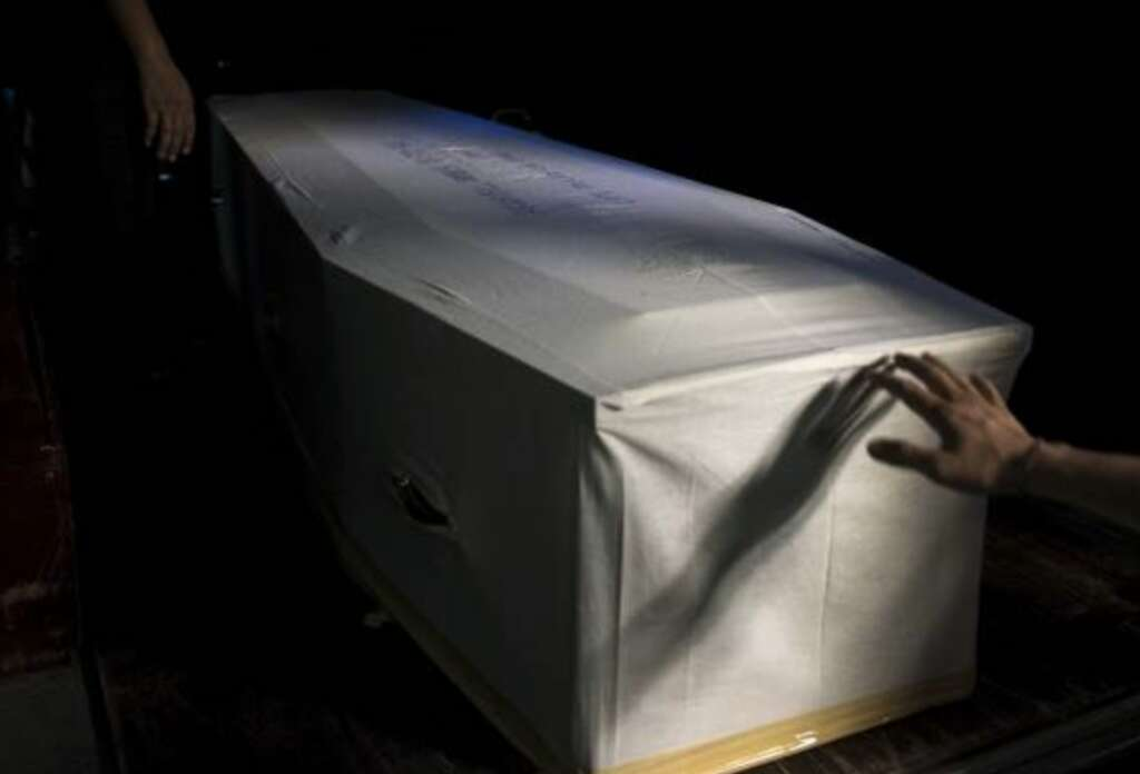 Coconut left inside coffin explodes during funeral