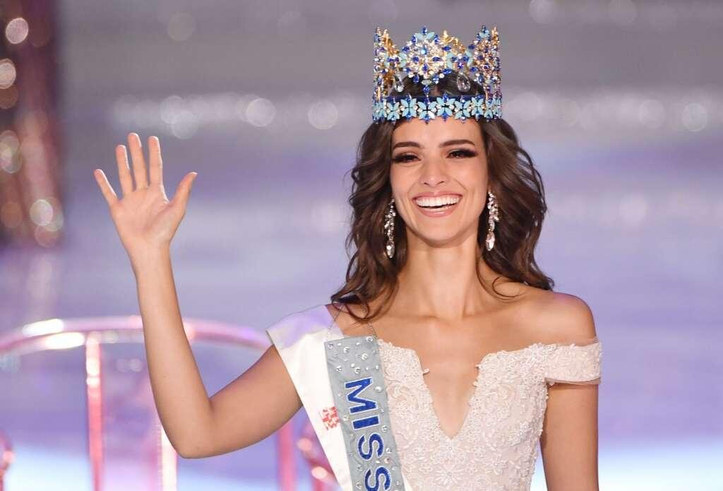 نتيجة بحث الصور عن Vanessa Ponce de Leon of Mexico is crowned Miss World 2018