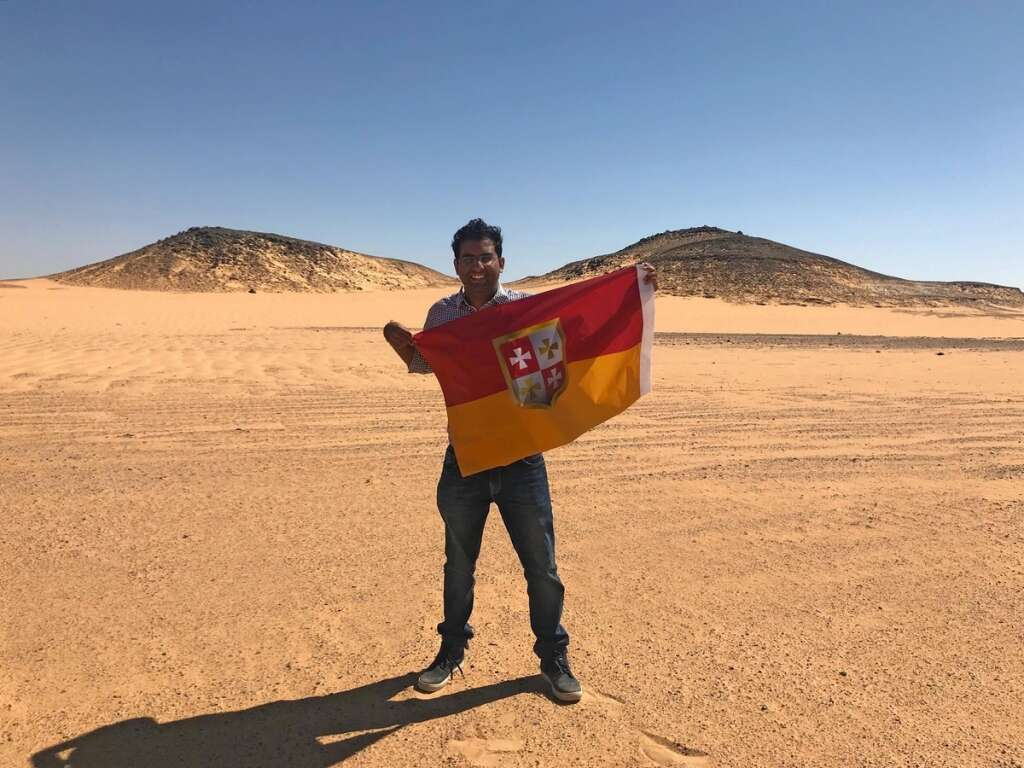 24-year-old Indian claims land near Egypt, declares himself king