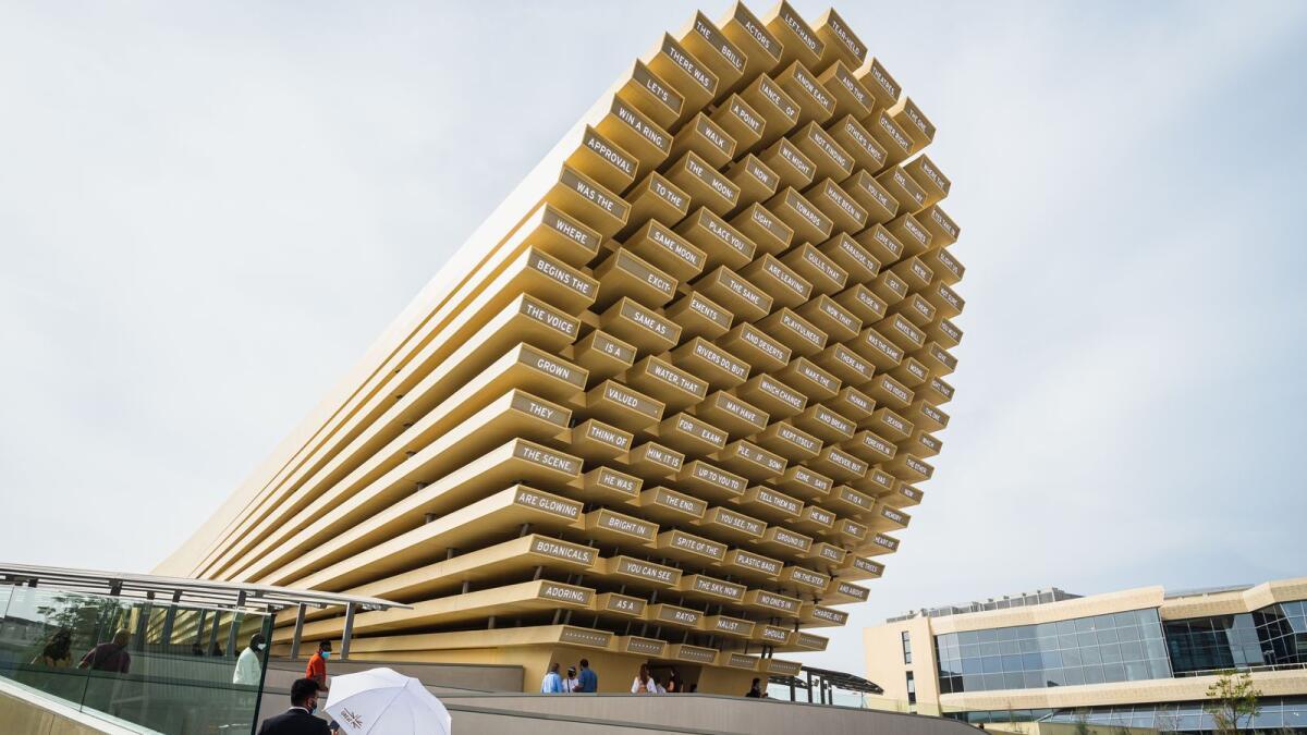 The futuristic UK Pavilion at Expo 2020 Dubai. KT photo/Neeraj Murali
