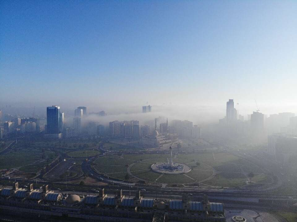 uae, weather, national center of meteorology, ncm, fog, warning, poor, visibility, sunny, in, general, partly, cloudy