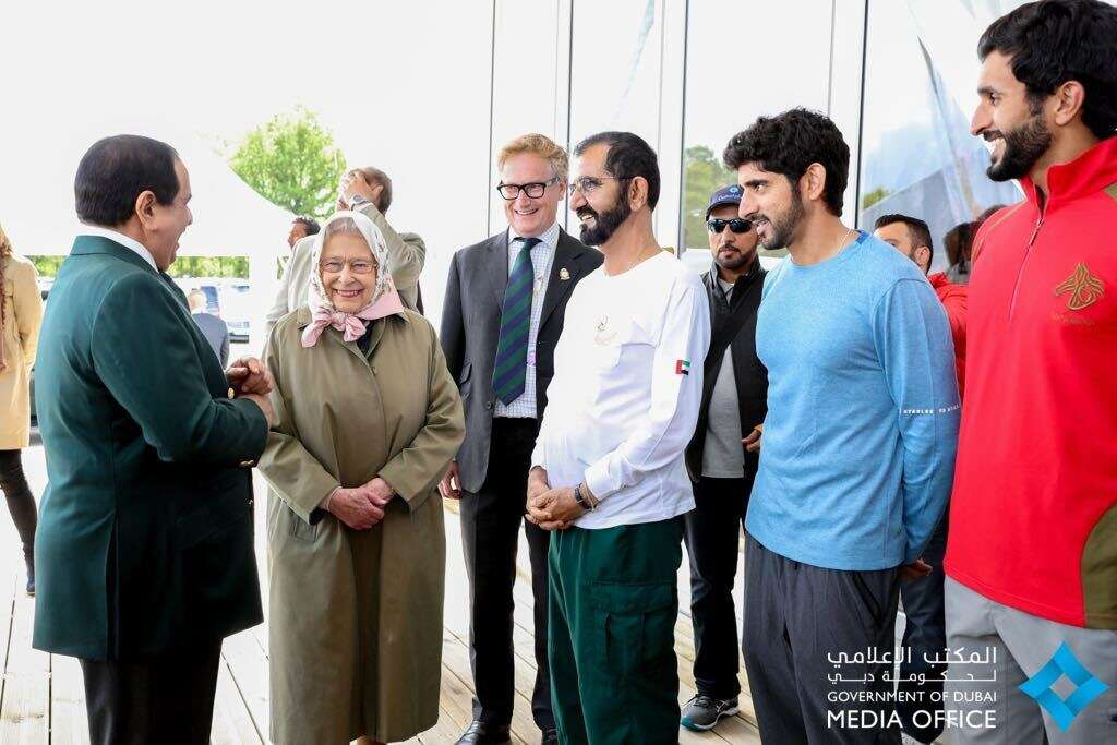 Video: Sheikh Mohammed meets the Queen at Endurance Race