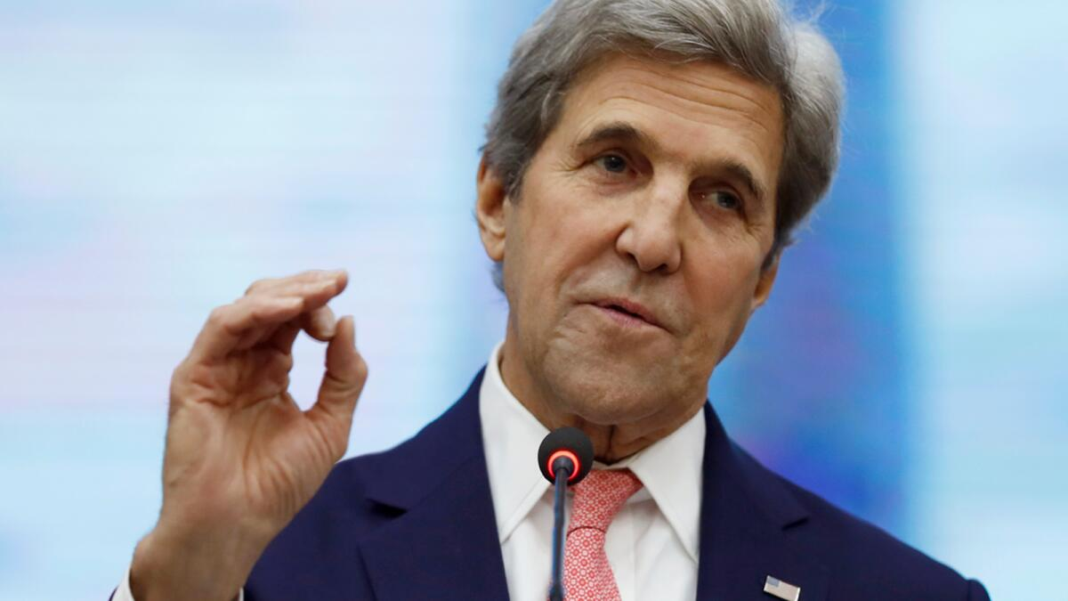 US climate envoy John Kerry congratulates UAE for 'incredibly important' Net Zero 2050 initiative