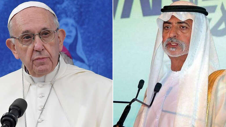 Video: Sheikh Nahyan welcomes Pope Francis to UAE - News