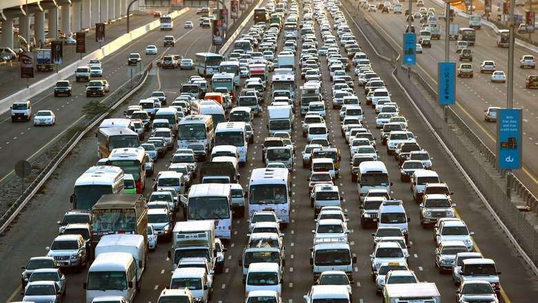 Multiple accidents cause traffic jams across Dubai this morning