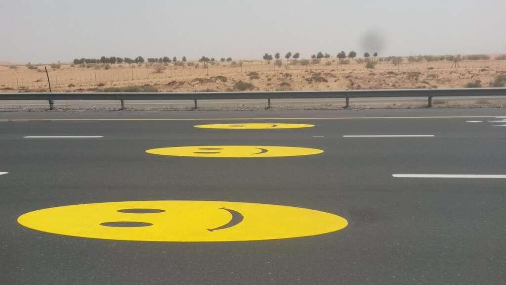 Look, smiling emojis on UAE roads