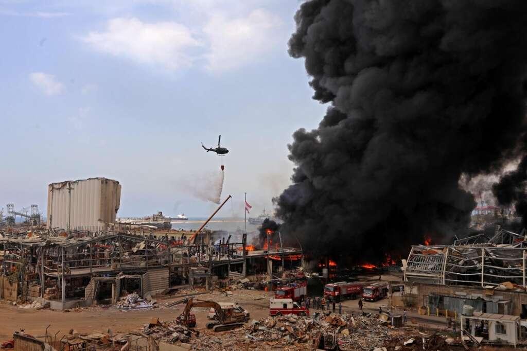 Beirut, fire, Red Cross