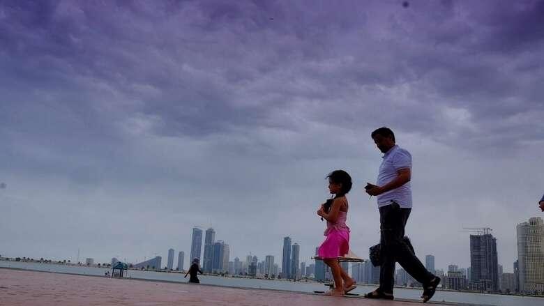 Hazy weather, rain, weather, NCM, Arabian Gulf