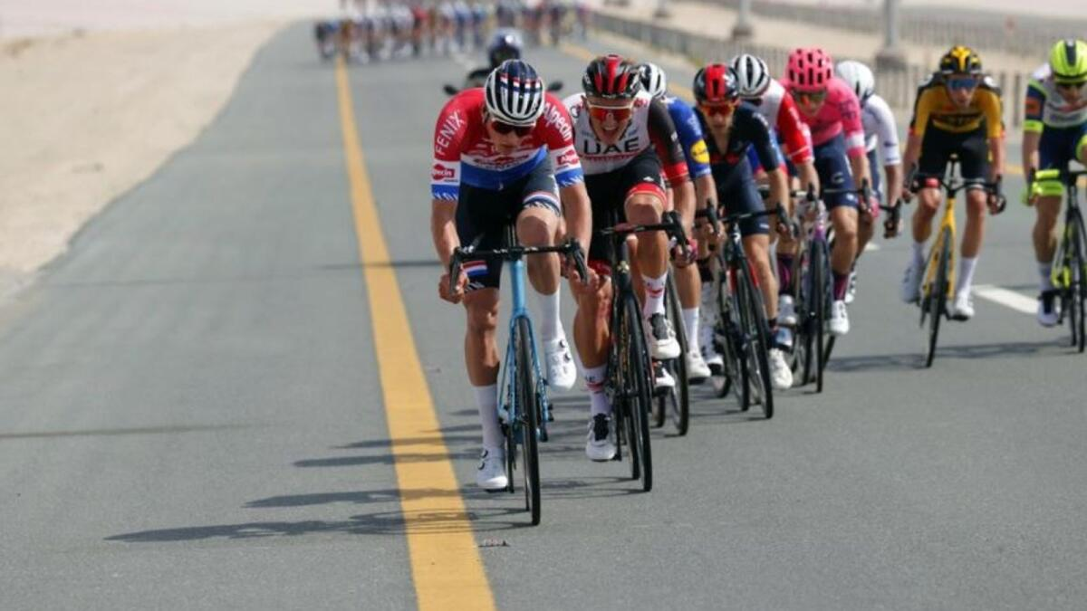 Dutch cyclist Der Poel of Alpecin-Fenix team had taken the Stage One honours of the UAE Tour on Sunday. (Twitter)