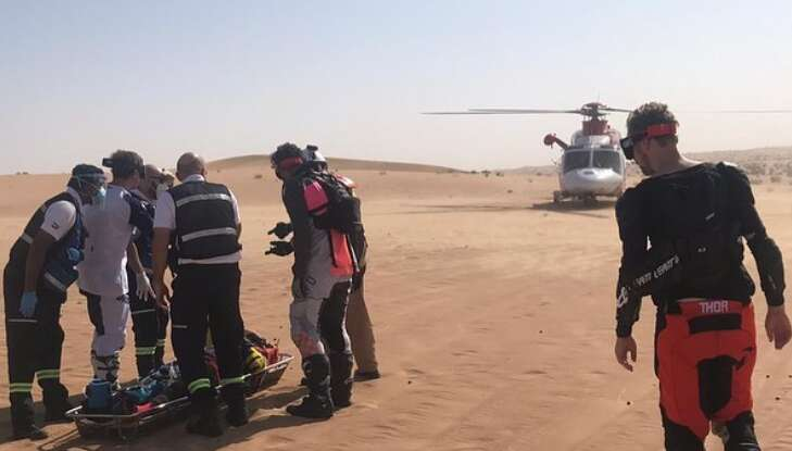 national search and rescue center, rescued, british man, dubai, margham desert