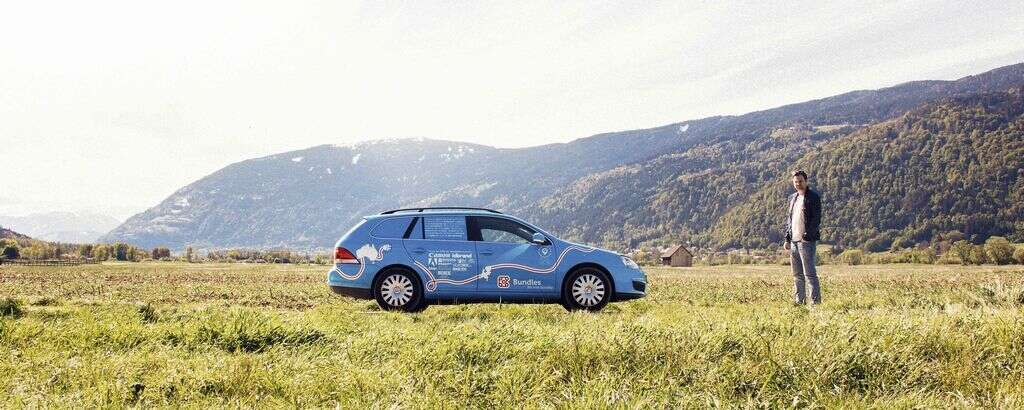 FOR PLANET EARTH: Wiebe Wakker with his e-car