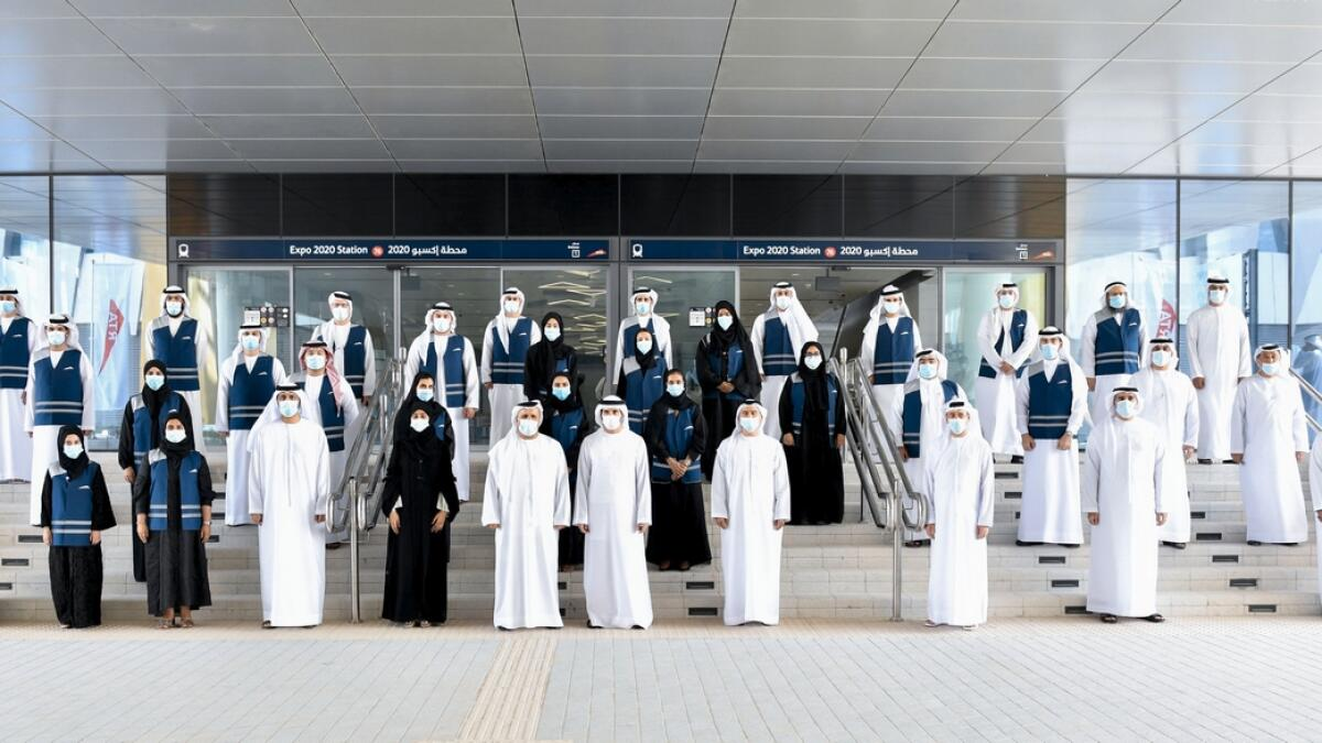 """By providing a convenient and viable means of mass transport, Dubai Metro has also had a positive impact on the economy. """"Since its launch in September 2009, the Dubai Metro has served approximately 1.56 billion riders across 2.6 million journeys. With an on-time departure rate of 99.7 per cent, the Dubai Metro ranks among the world's top mass transit systems,"""" Sheikh Hamdan said."""