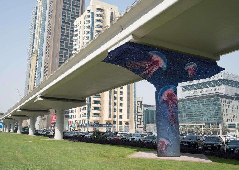 Photos: International artists to paint murals on Dubai Metro pillars