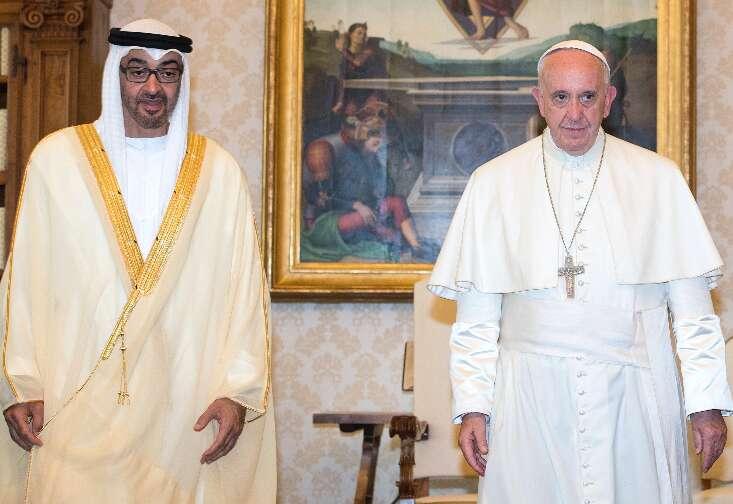 Mohammed bin Zayed: UAE values Popes anti-violence efforts