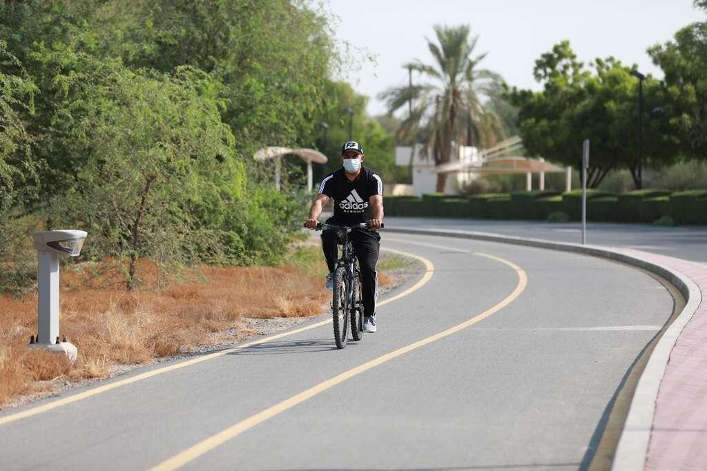 dubai, park, uae, bicycle, cycling, cycling track, mushrif park