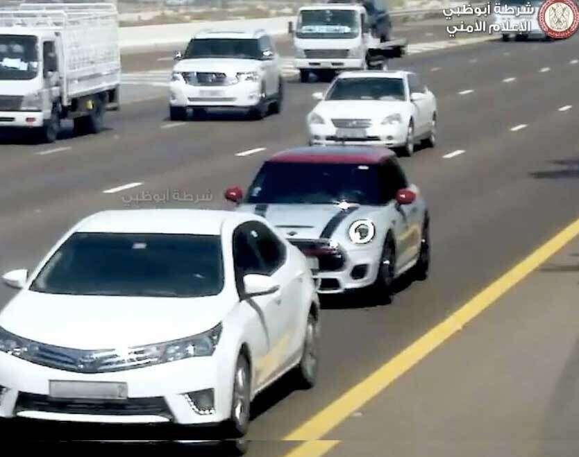 smart system, tailgaters, Abu Dhabi roads, Abu Dhabi Police, Abu Dhabi