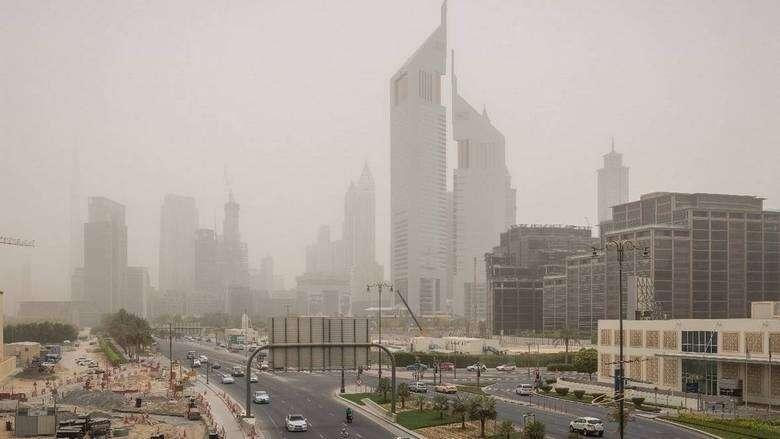 Dusty, hot, day, UAE, National Center of Meteorology, weather, forecast, Dubai, Abu Dhabi