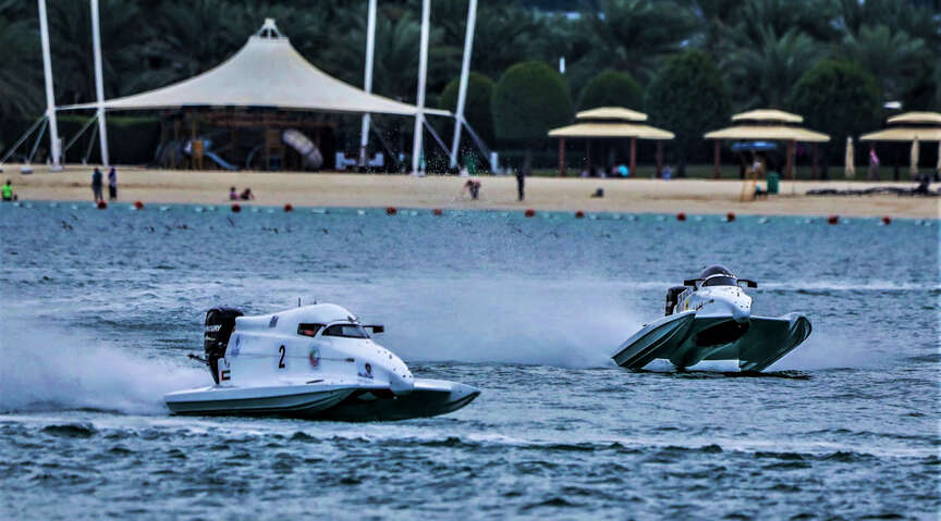 Mohamed sets early pace as ADIMSC launches UAE Formula 4 Powerboat series
