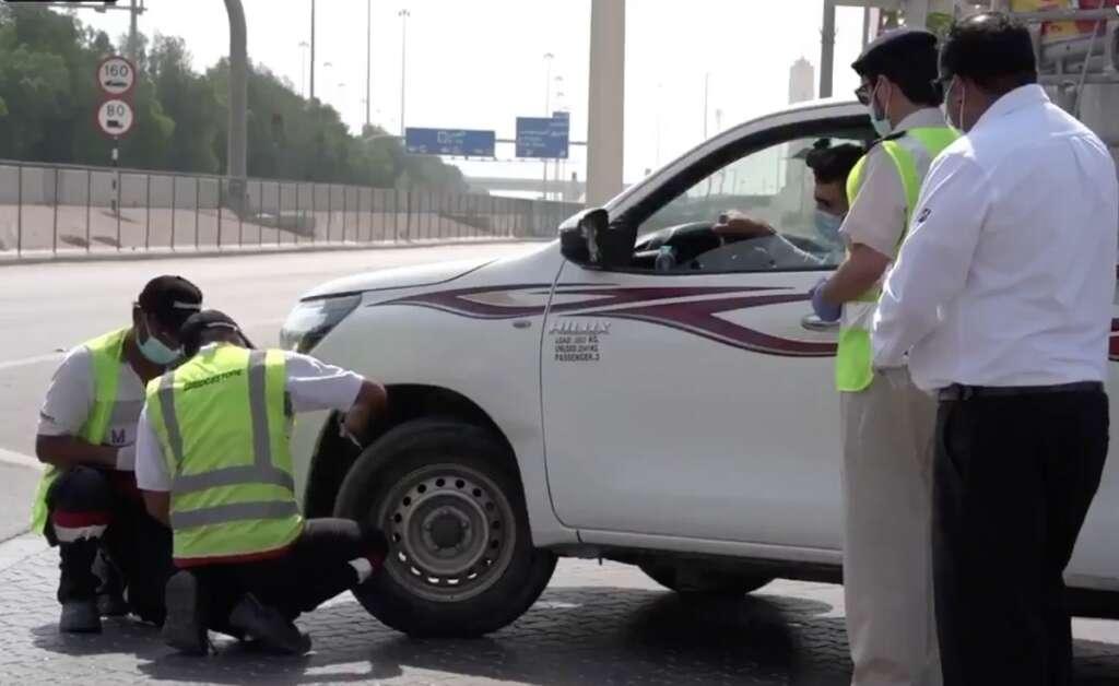 road safety, tyres, Abu Dhabi, UAE, Abu Dhabi Police, patrols