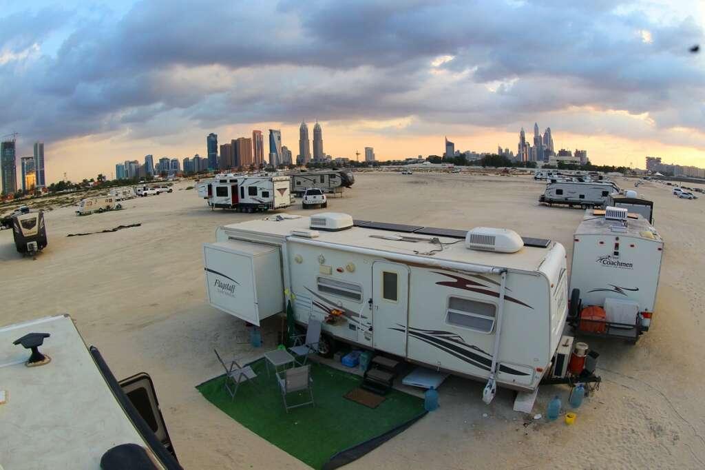 Dubai, waives off, Dh500 fee, setting up, caravans, beach, municipality,