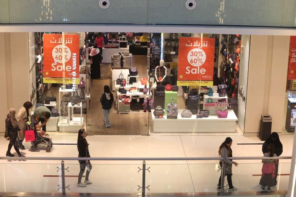People shopping at the Dubai Mall.-Photo by Dhes Handumon/ Khaleej Times
