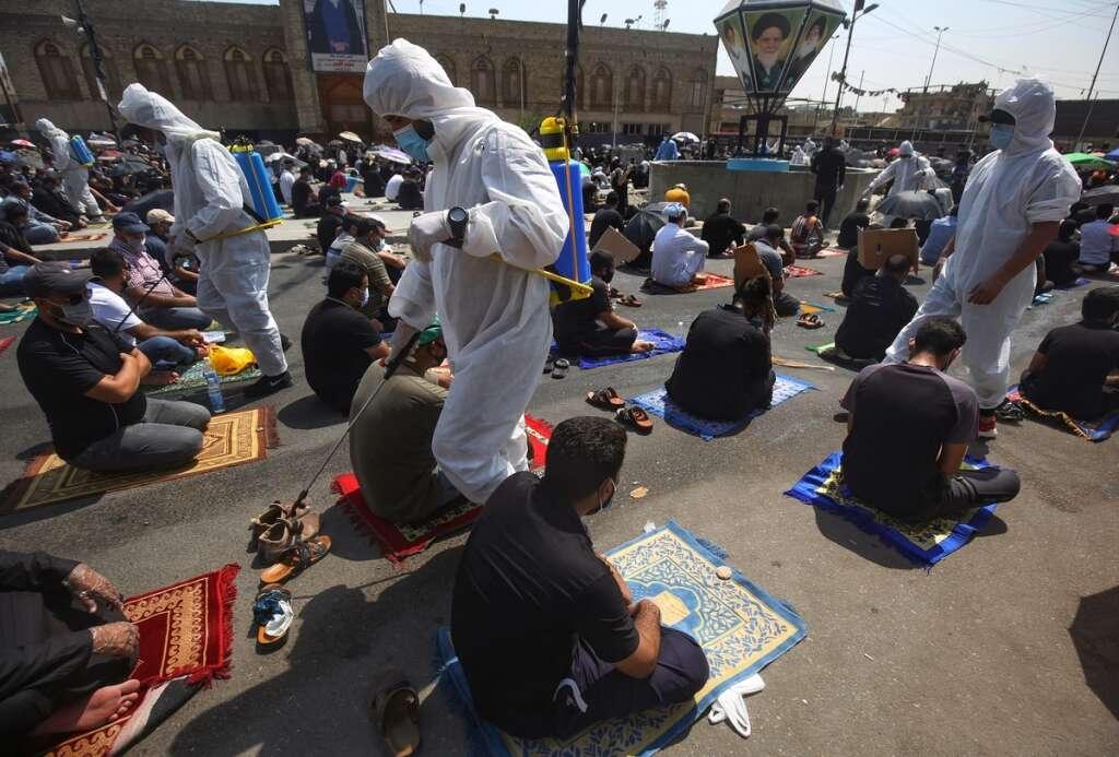 iraq, mosque, prayers, friday, coronavirus, covid-19