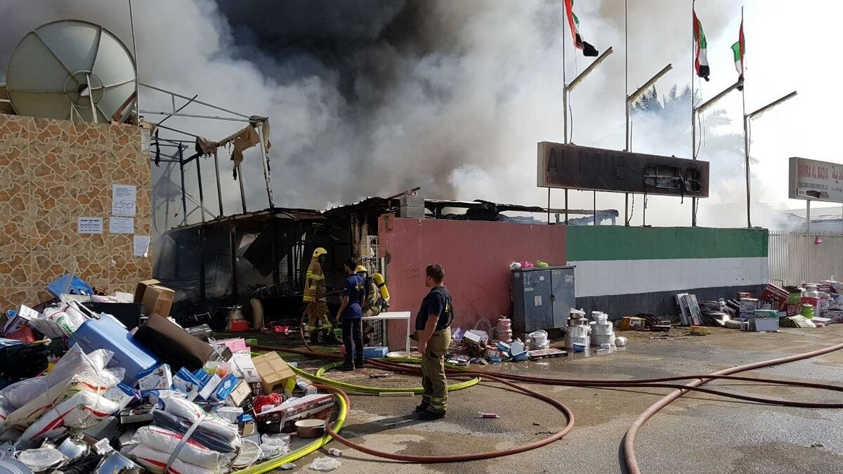 Video: Firefighters put out blaze in Sharjah's Industrial Area