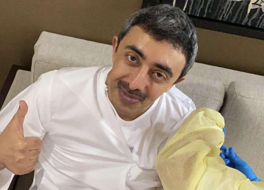 Abu Dhabi, Corona vaccination, Covid-19 vaccine. Sheikh Abdullah